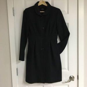 Jacob grey wool-blend frock coat, size XS.
